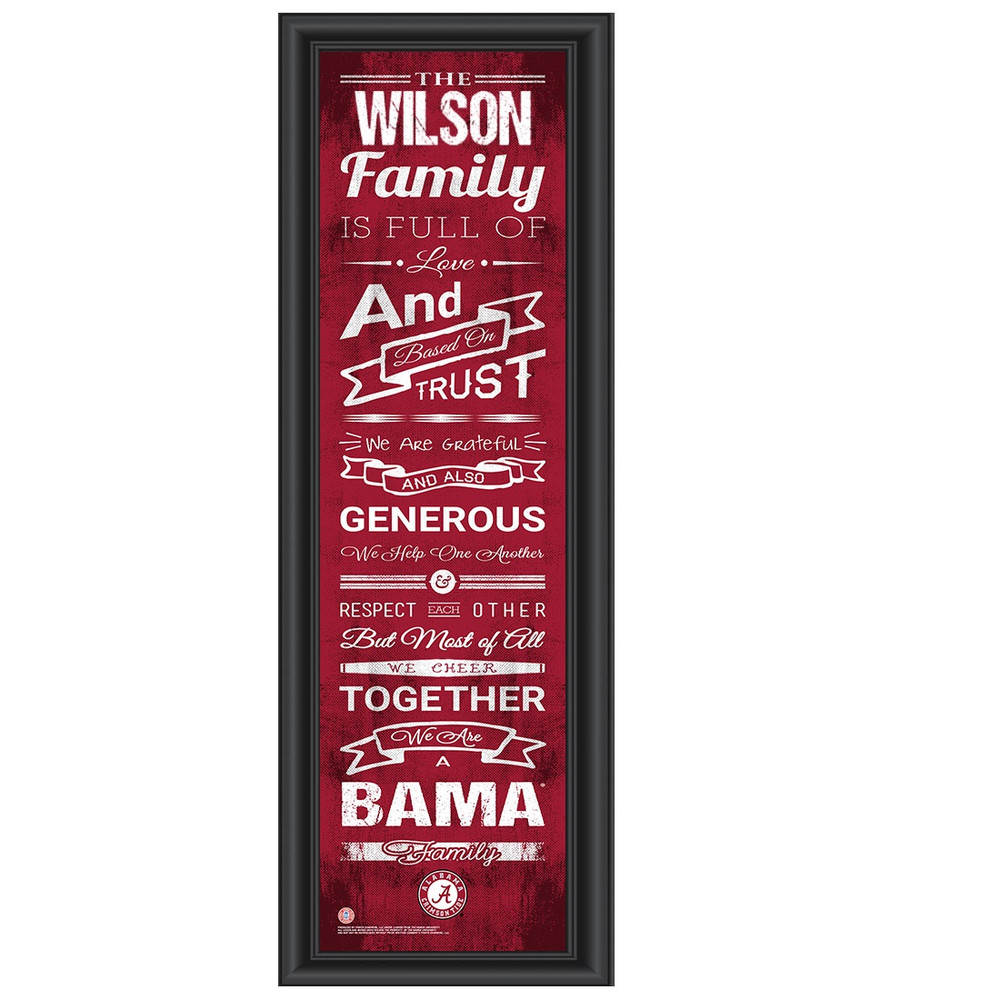 Alabama Crimson Tide Personalized Family Cheer Print | Get Letter Art | ALAFAM