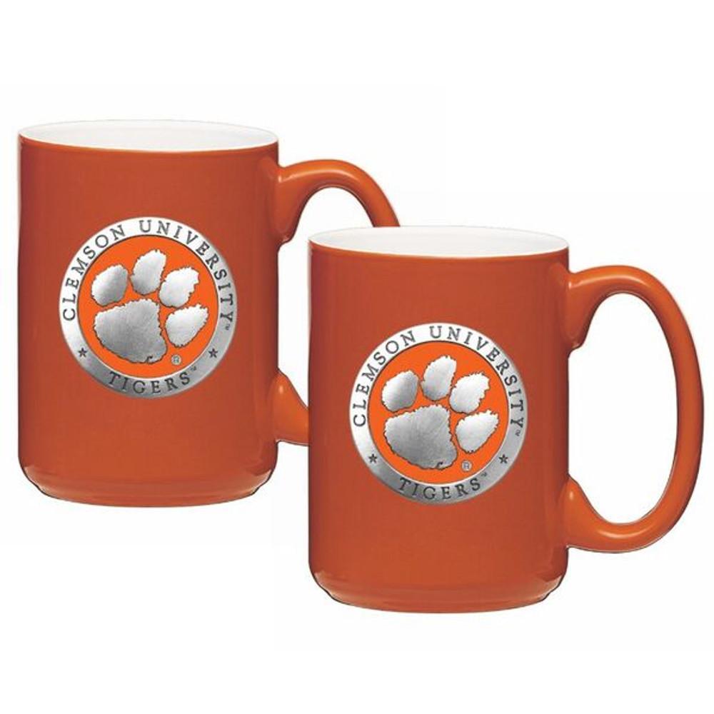 Clemson Tigers Coffee Mug Set of 2   Heritage Pewter   CM10160EONG