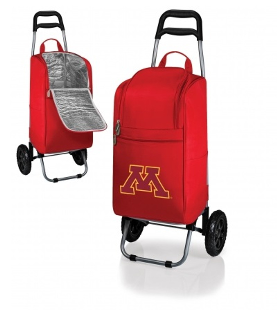 Minnesota Golden Gophers Red Rolling Cart Cooler | Picnic Time | 545-00-100-364-0-2