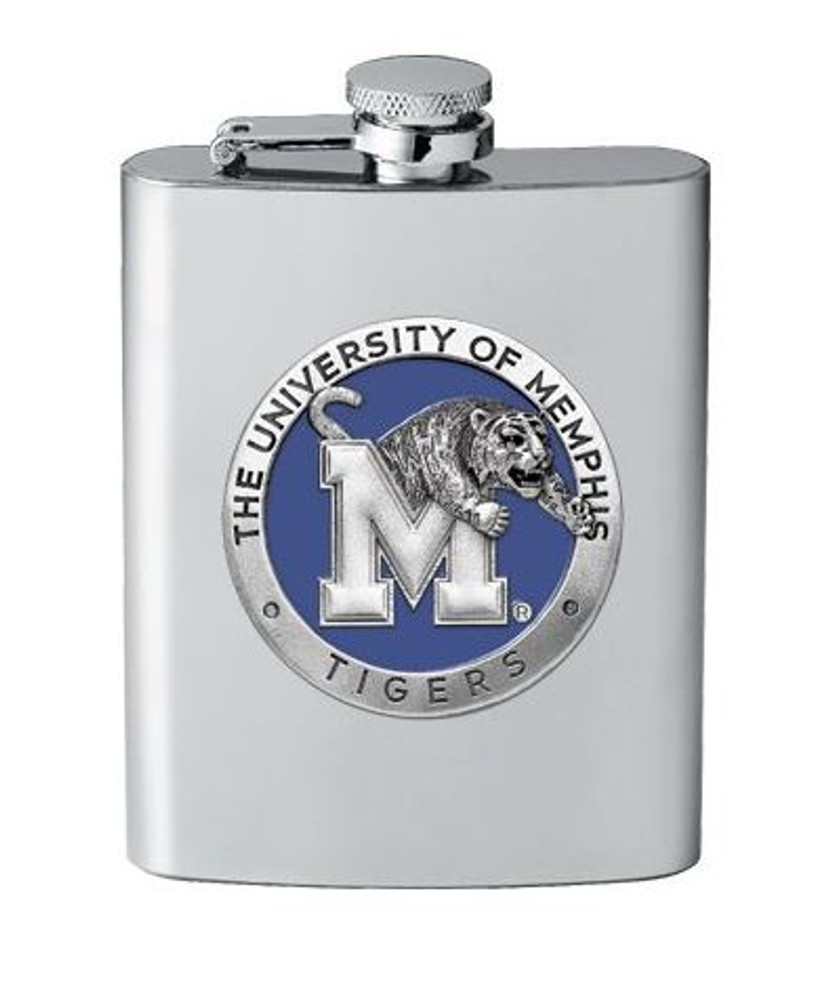 Memphis Tigers Flask | Heritage Pewter | FSK10320EB