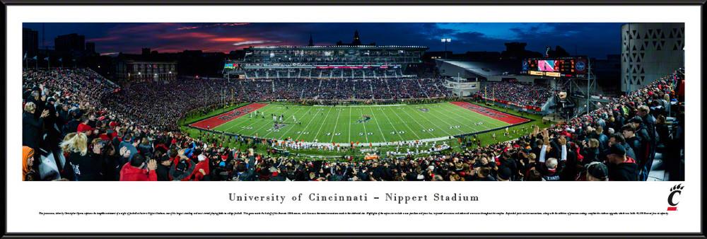 Cincinnati Bearcats Standard Frame Panoramic Photo   Blakeway   UCIN2F