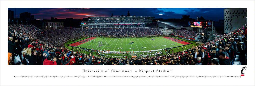 Cincinnati Bearcats Standard Frame Panoramic Photo   Blakeway   UCIN2
