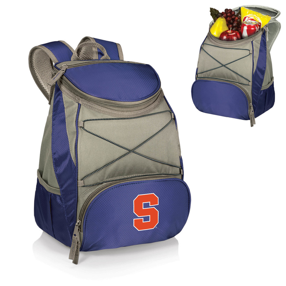 Syracuse Orange Insulated Backpack PTX - Navy | Picnic Time | 633-00-138-544-0-1