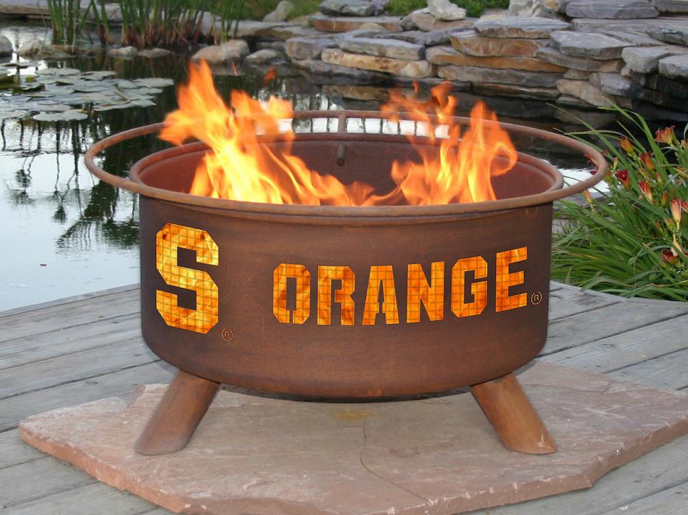 Syracuse Orange Portable Fire Pit Grill | Patina | F215-1