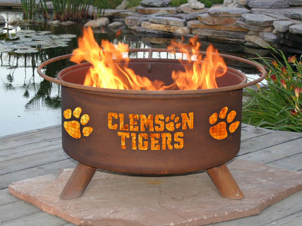 Clemson Tigers Portable Fire Pit Grill | Patina | F222-1