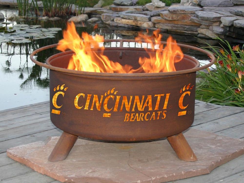 Cincinnati Bearcats Portable Fire Pit Grill   Patina   F425-1