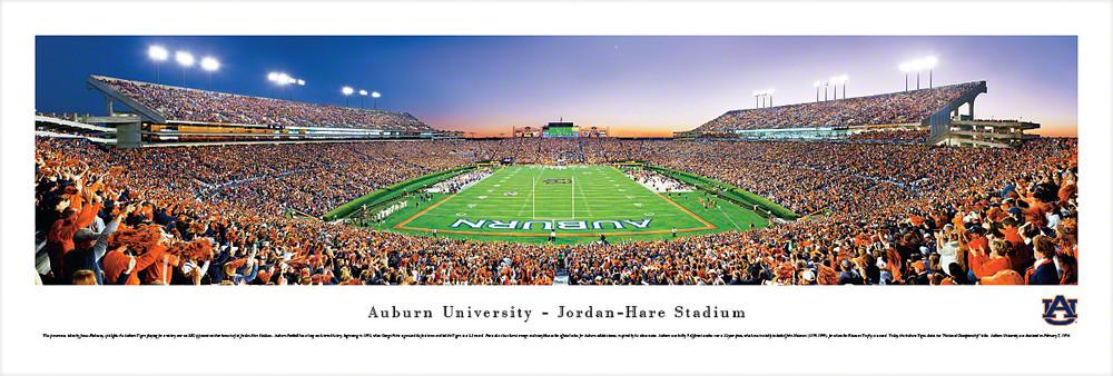 Auburn Tigers Panoramic Photo Print - End Zone   Blakeway   AUB2