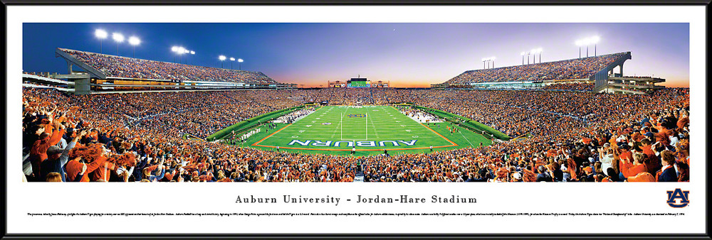 Auburn Tigers Standard Frame Panoramic Photo - End Zone   Blakeway   AUB2F