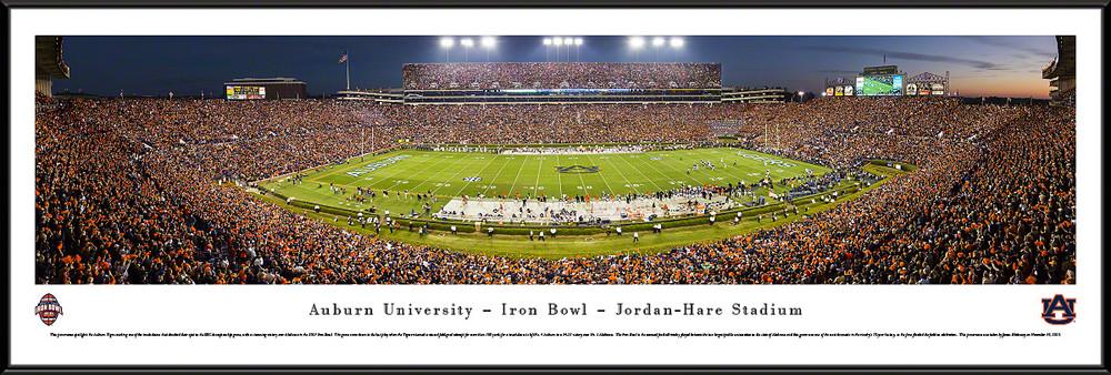 Auburn Tigers Standard Frame Panoramic Photo - 50 Yard Line | Blakeway | AUB4F