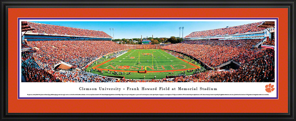 Clemson Tigers Panoramic Photo Deluxe Matted Frame - End Zone | Blakeway | CLEM2D