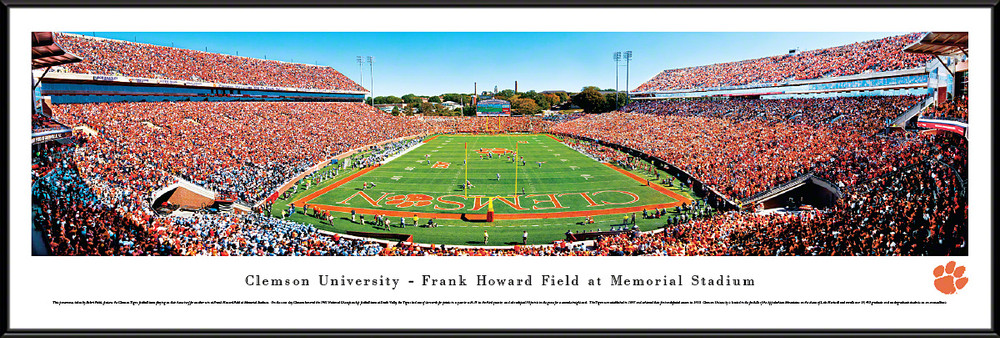 Clemson Tigers Standard Frame Panoramic Photo - End Zone | Blakeway | CLEM2F