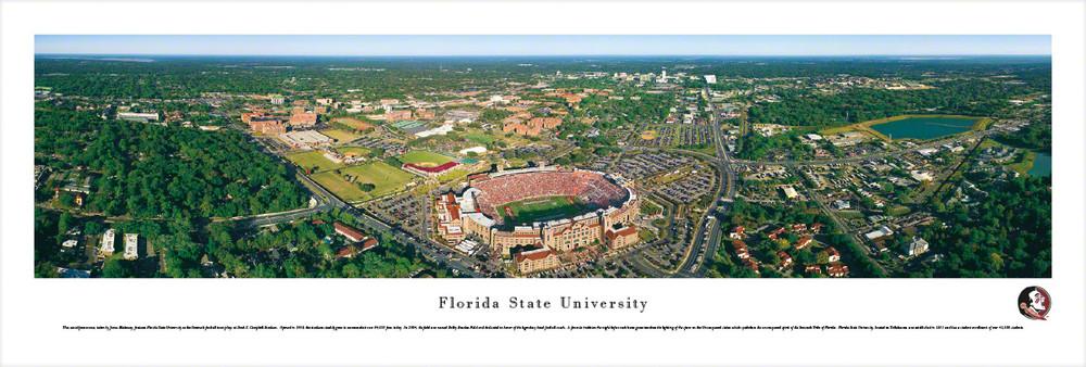 FSU Seminoles Panoramic Photo Print - Aerial View   Blakeway   FSU1