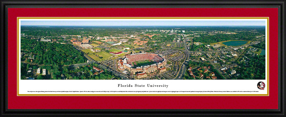 FSU Seminoles Panoramic Photo Deluxe Matted Frame - Aerial View | Blakeway | FSU1D