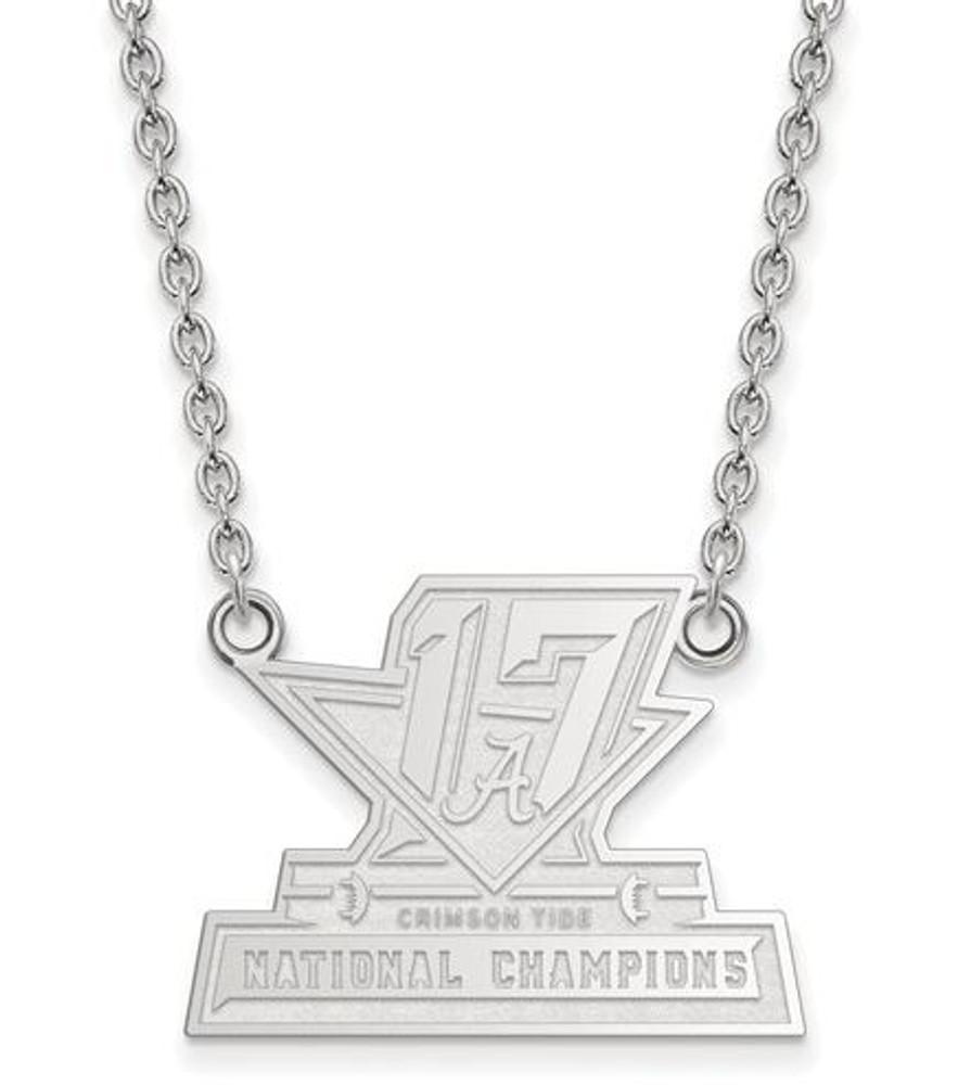 2017 National Champions Alabama Crimson Tide Sterling Silver LG Pendant Necklace   Logo Art   SS009CFA17-18