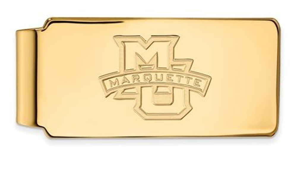 Marquette University Sterling Silver Gold Plated Money Clip | Logo Art | GP009MAR