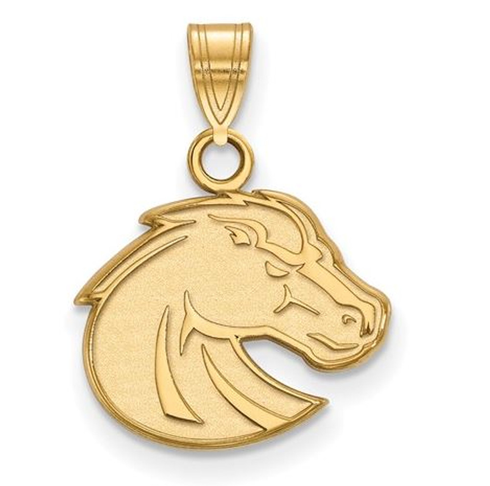 Boise State University Sterling Silver Gold Plated Small Pendant | Logo Art | GP001BOS