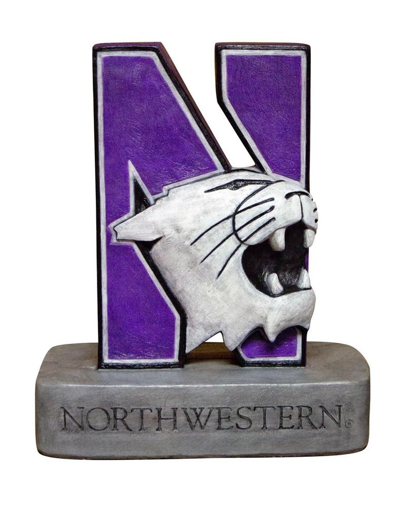 Northwestern Wildcats Mascot Garden Statue | Stonecasters | 2995HT