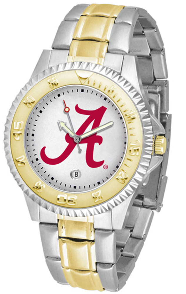 Alabama Crimson Tide Men's Competitor Two-Tone Watch | SunTime | ST-CO3-ACT-COMPMG
