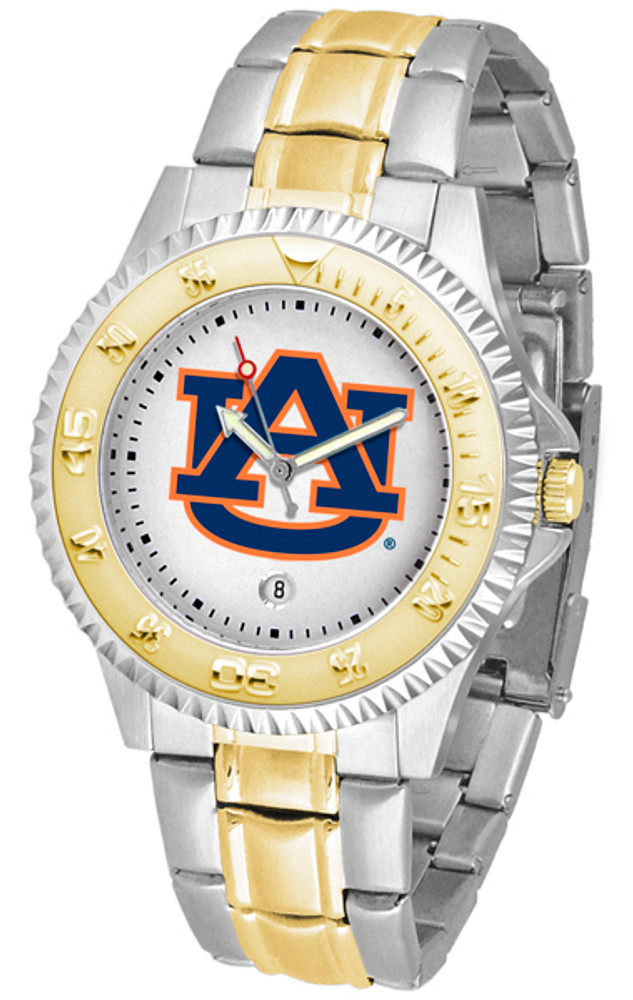 Auburn Tigers Men's Competitor Two-Tone Watch   SunTime   ST-CO3-AUT-COMPMG