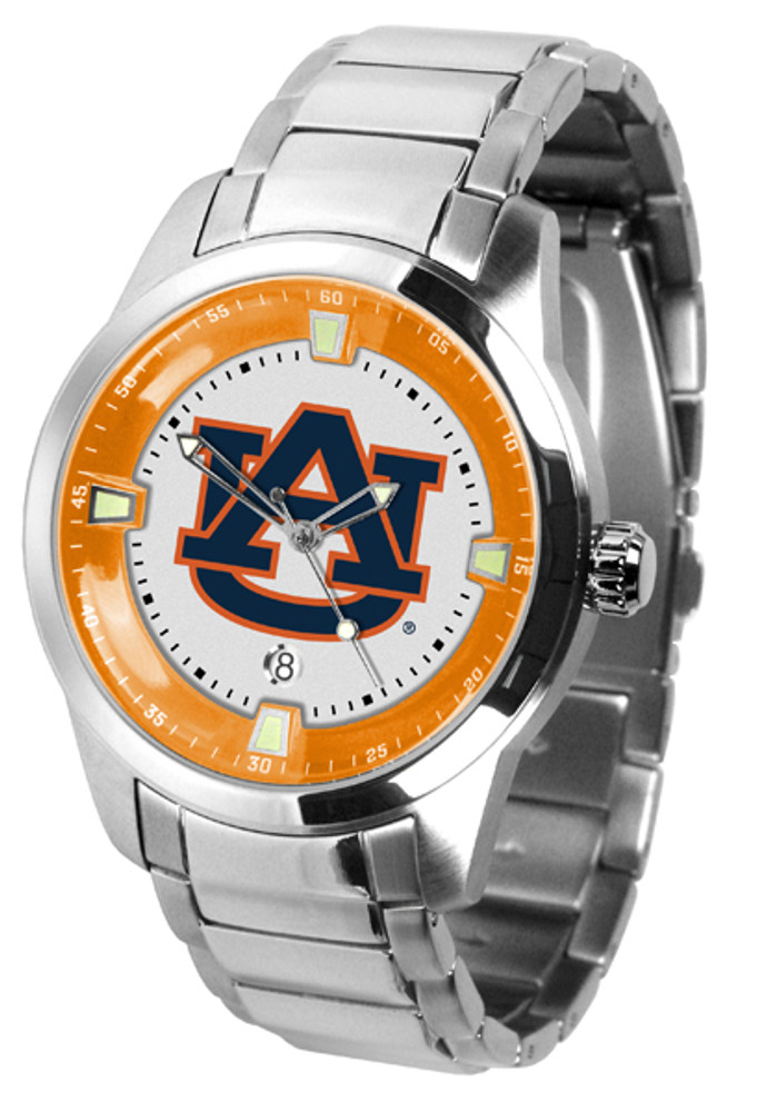 Auburn Tigers Men's Titan Steel Watch | SunTime | ST-CO3-AUT-TITANM