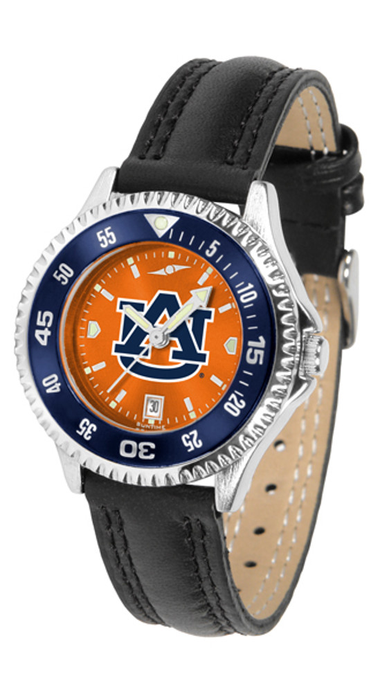 Auburn Tigers Ladies Competitor AnoChrome Watch with Color Bezel | SunTime | ST-CO3-AUT-COMPL-AC