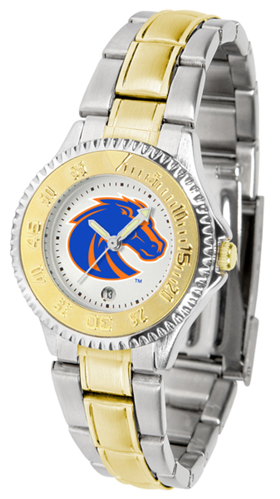 Boise State Broncos Ladies Competitor Two-Tone Watch | SunTime | SUNST-CO3-BSB-COMPLMG