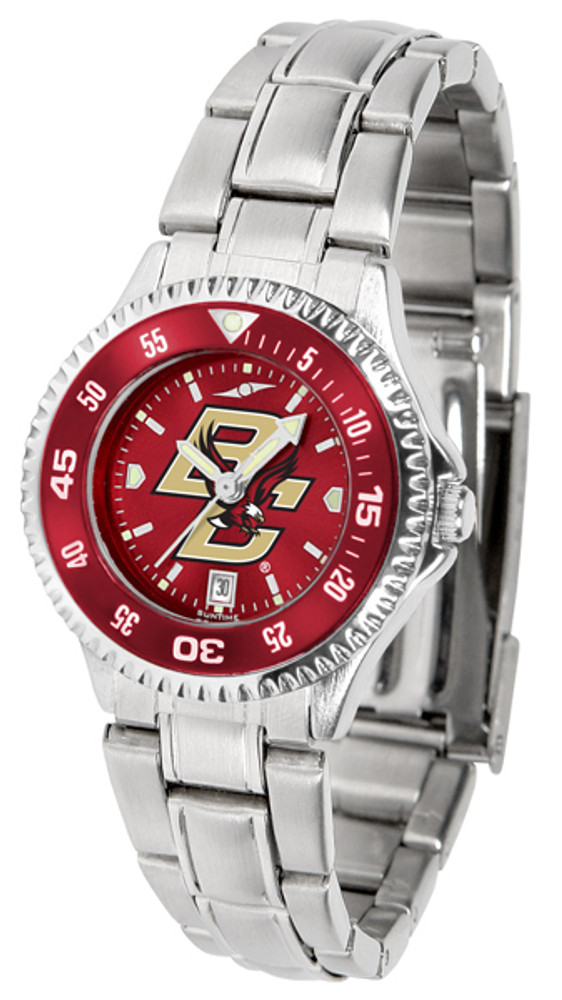 Boston College Eagles Ladies Competitor Steel AnoChrome Watch with Color Bezel | SunTime | ST-CO3-BCE-COMPLM-AC