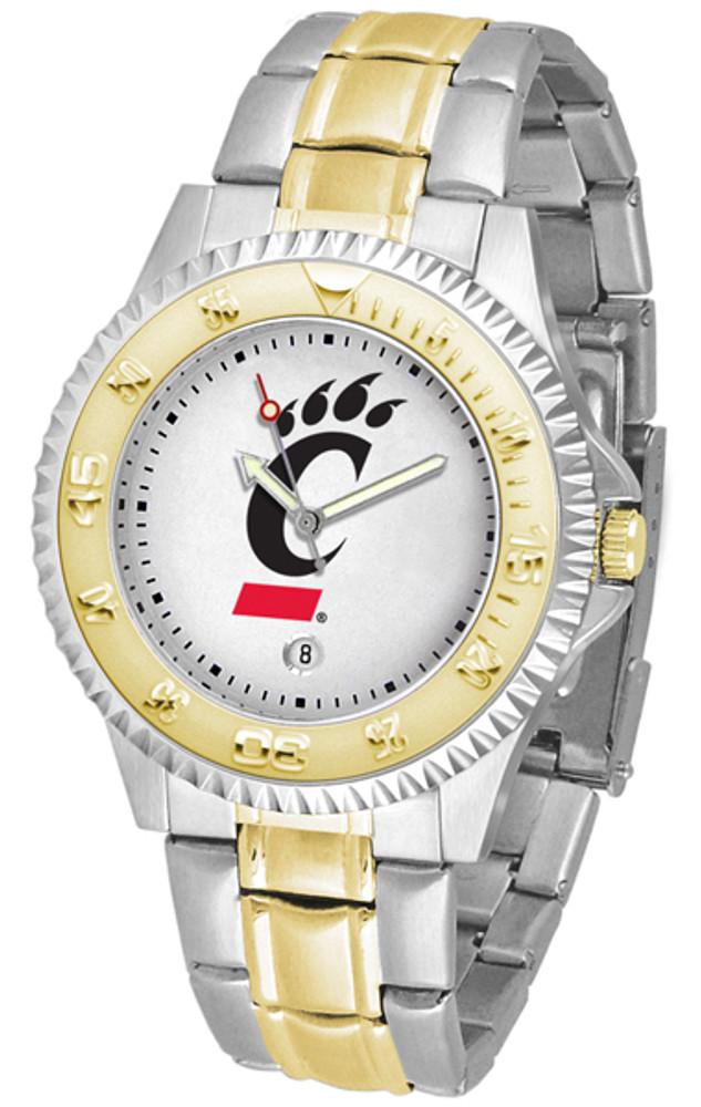 Cincinnati Bearcats Men's Competitor Two-Tone Watch | SunTime | ST-CO3-CIB-COMPMG