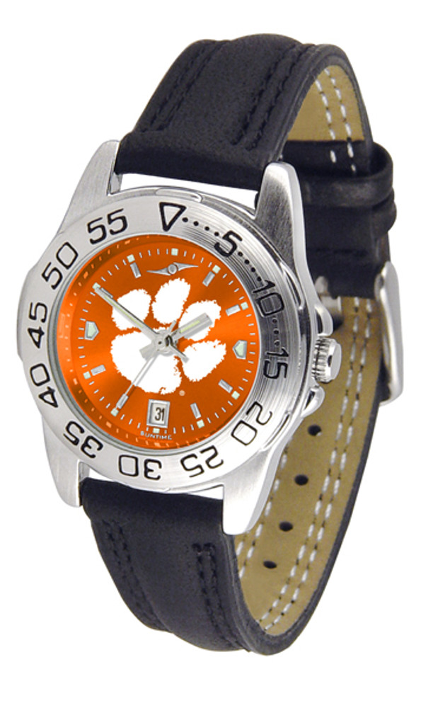 Clemson Tigers Ladies Sport Leather AnoChrome Watch | SunTime | ST-CO3-CLT-SPORTL-A