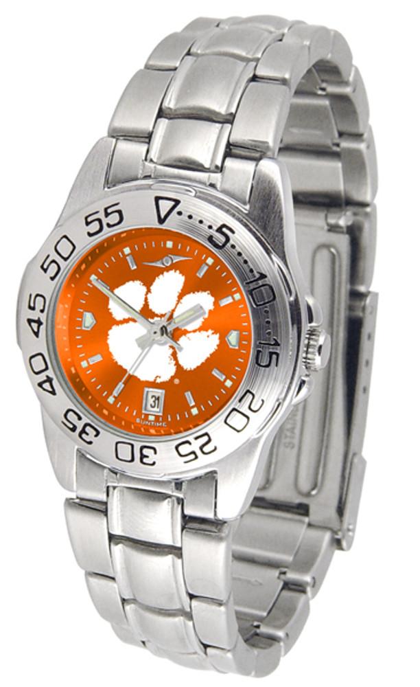 Clemson Tigers Ladies Sport Steel AnoChrome Watch   SunTime   ST-CO3-CLT-SPORTLM-A
