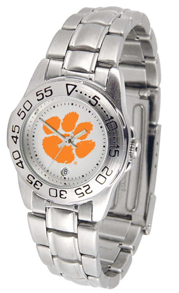 Clemson Tigers Ladies Sport Steel Watch | SunTime | ST-CO3-CLT-SPORTLM