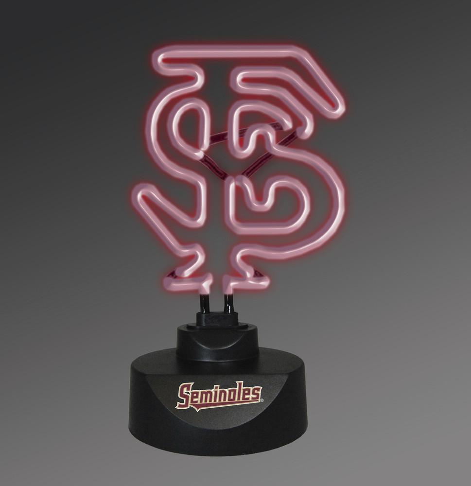 FSU Seminoles Neon Desk Lamp   Memory Company   MEM-FSU-1808