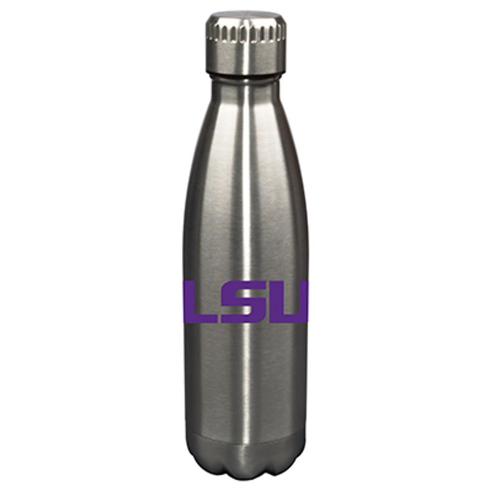 LSU Tigers 17oz Stainless Steel Water Bottle  | Memory Company | MEM-LSU-710101