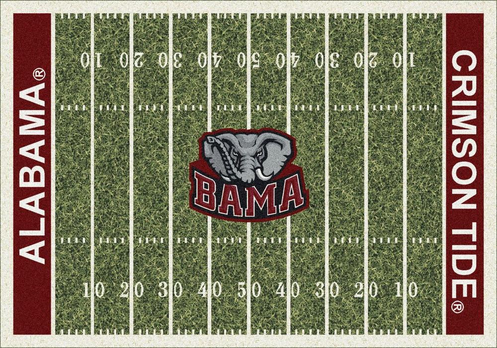 Alabama Crimson Tide Football Field Rug