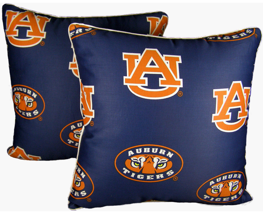 "Auburn Tigers 16"" x 16"" Decorative Pillow Pair 