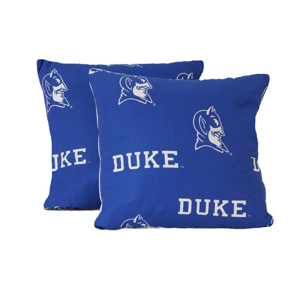 "Duke Blue Devils 16"" x 16"" Decorative Pillow Pair   College Covers   DUKDPPR"