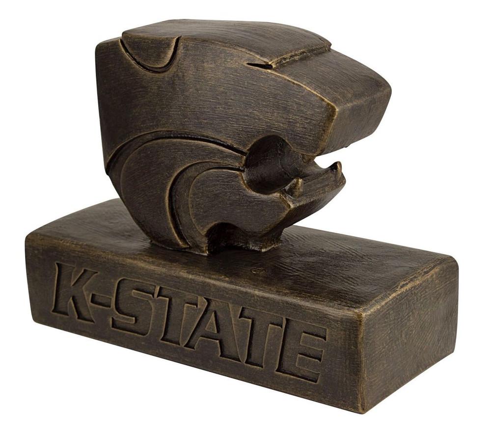 Kansas State Wildcats Bronze Mascot Garden Statue
