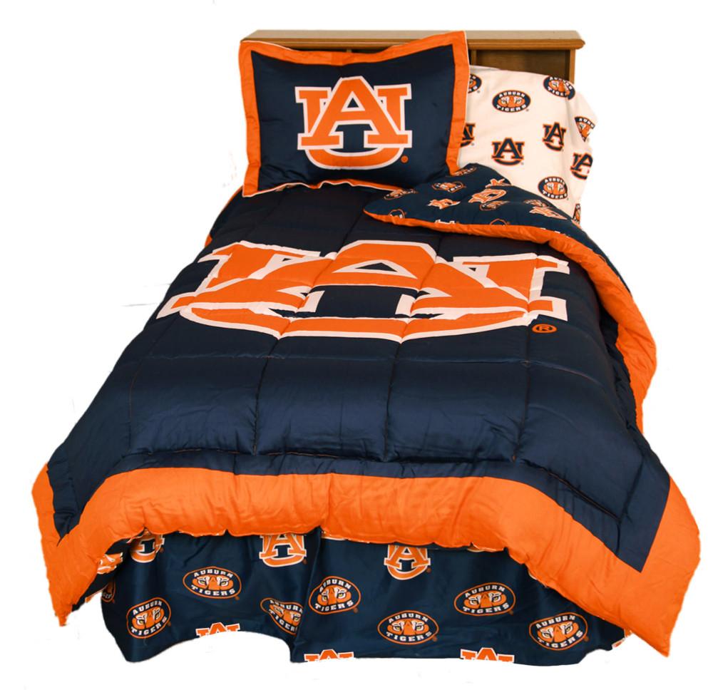 Auburn Tigers Reversible Comforter Set - KING   College Covers   AUBCMKG