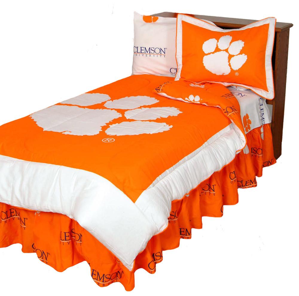 Clemson Tigers Reversible Comforter Set - Twin   College Covers   CLECMTW