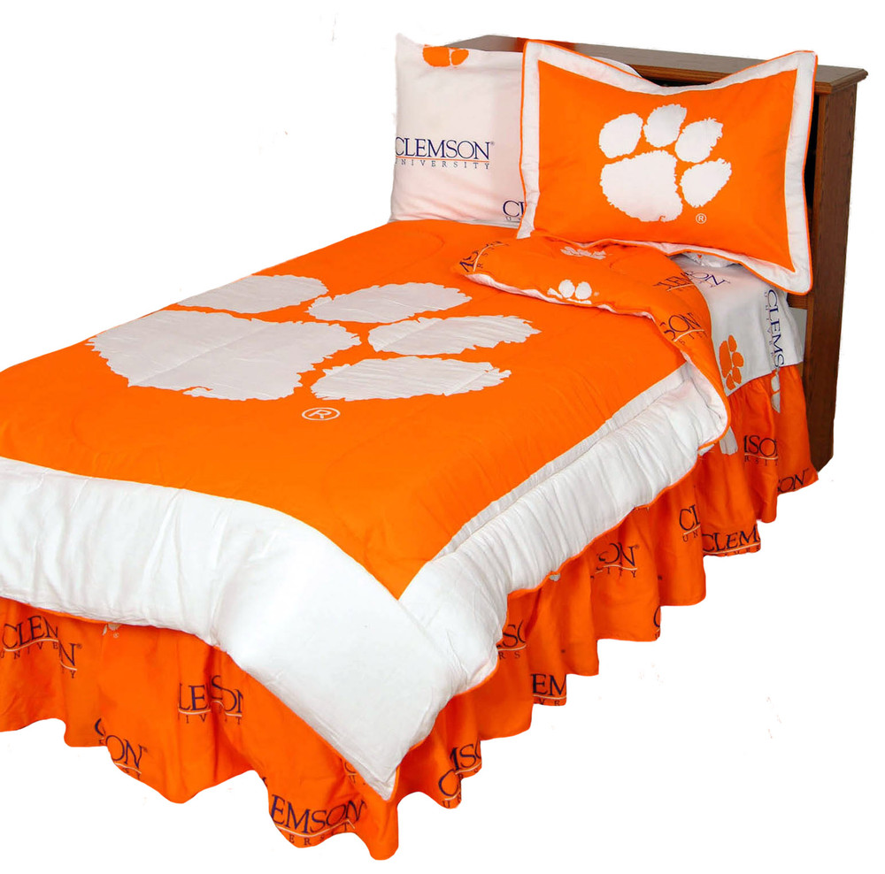 Clemson Tigers Reversible Comforter Set - KING | College Covers | CLECMKG