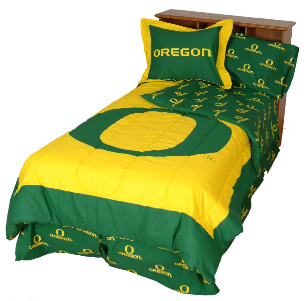 Oregon Ducks Reversible Comforter Set - FULL   College Covers   ORECMFL