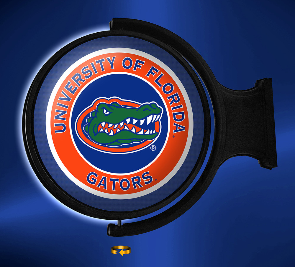 Florida Gators Rotating Illuminated LED Wall Sign-Round Logo  |Grimm Industries | UF-115-01