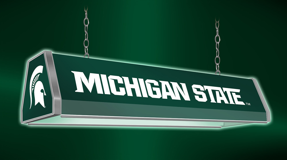 """Michigan State Spartans 38"""" Standard Pool Table Light-Green 