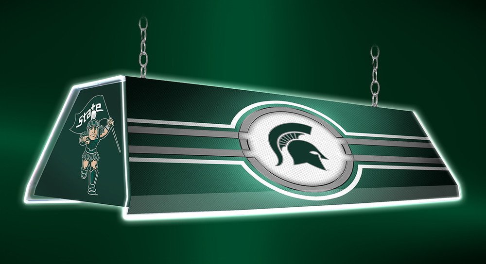 "Michigan State Spartans 46"" Edge Glow Pool Table Light-Green 