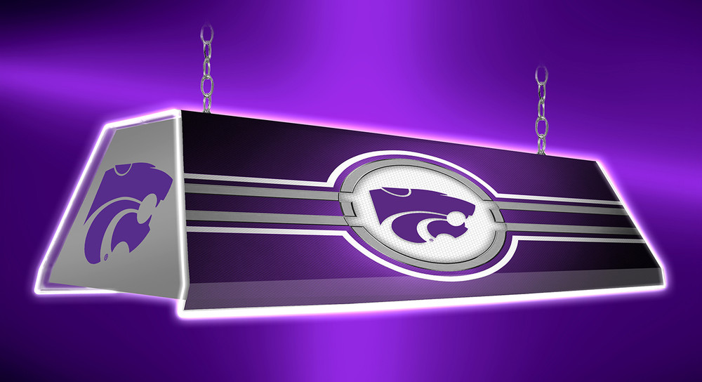 "Kansas State Wildcats 46"" Edge Glow Pool Table Light-Purple 