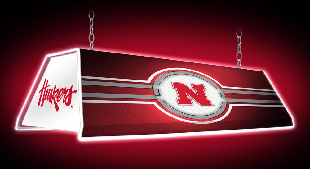 "Nebraska Huskers 46"" Edge Glow Pool Table Light | Grimm Industries | NB-320-01"