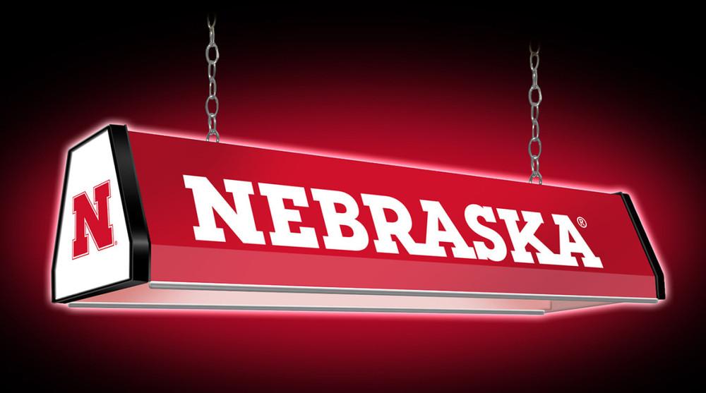 "Nebraska Huskers 38"" Standard Pool Table Light |Grimm Industries | NB-310-01"