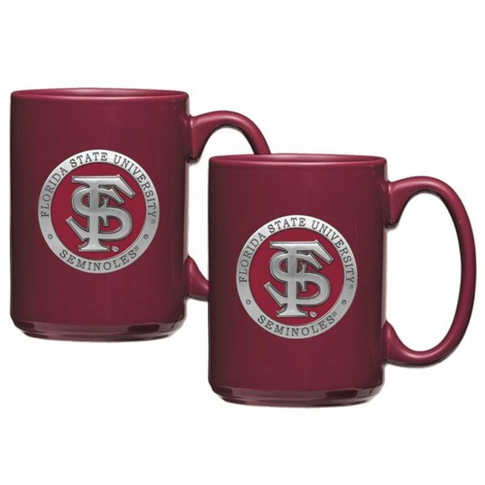 FSU Seminoles Coffee Mug Set of 2 | Heritage Pewter | CM10265ERBG