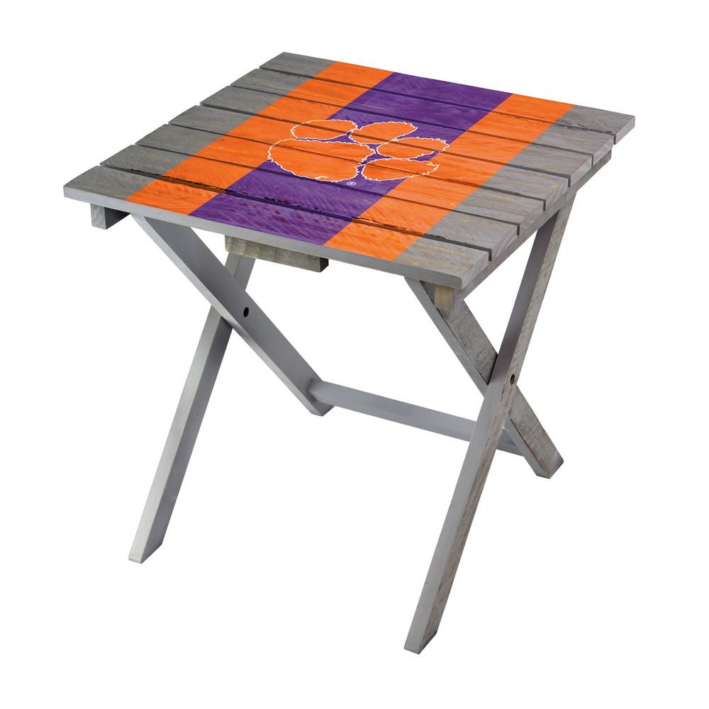Clemson Tigers Adirondack Folding Table   Imperial   IMP744-3043