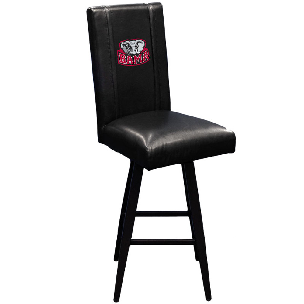 Alabama Crimson Tide BAMA Collegiate Bar Stool Swivel 2000 | Dreamseat| XZ2000BSSBLK-PSCOL12074